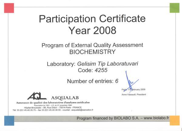 Biochemistry belgesi 2008